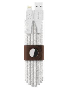 Belkin DuraTek Plus Lightning naar USB 3 meter kabel Wit