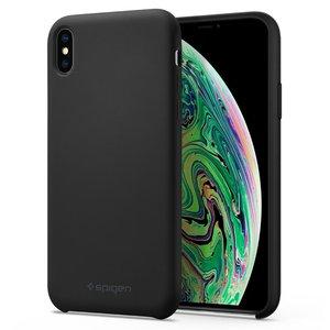 Spigen Silicone Fit iPhone XS Max hoesje Zwart