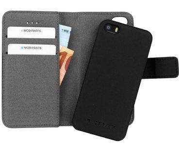 Mobiparts 2 in 1 Wallet iPhone SE / 5S hoesje Zwart