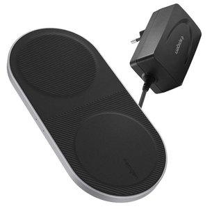 Spigen F310W Dubbele draadloze iPhone oplader Zwart