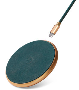 Decoded Leather draadloze oplader + kabel Groen