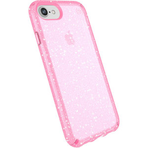 Speck Presidio Clear iPhone 8/7/6 hoesje Glitter Roze